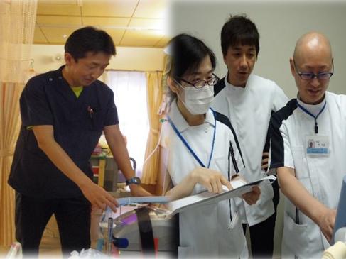 看護師と臨床工学技士のダブルライセンスを取得したHさんとYさん。機器の管理や研修に大忙しです。